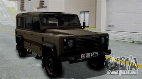 Land Rover Defender Vojno Vozilo für GTA San Andreas
