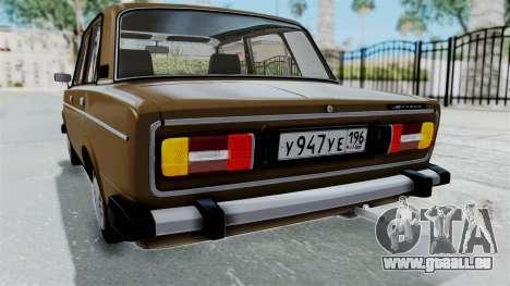 VAZ 2106 für GTA San Andreas Unteransicht