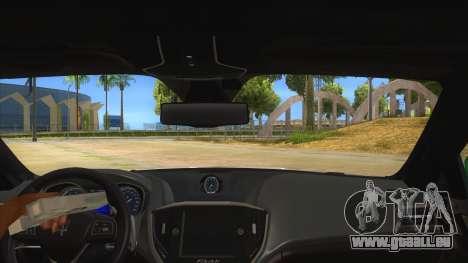 Maserati Iranian Police für GTA San Andreas Innenansicht
