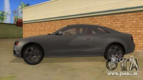 Audi S5 Sedan V8 pour GTA San Andreas laissé vue