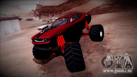 2009 Dodge Challenger SRT8 Monster Truck für GTA San Andreas Seitenansicht