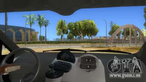 Fiat Multipla FAKETAXI pour GTA San Andreas vue intérieure