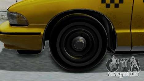 Chevrolet Caprice 1991 Taxi für GTA San Andreas zurück linke Ansicht