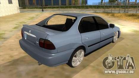 Honda Accord Sedan 1997 für GTA San Andreas rechten Ansicht