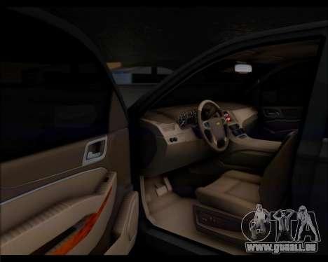 Chevrolet Suburban 2015 pour GTA San Andreas vue arrière