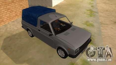 Zastava Poly 1.3 pour GTA San Andreas vue arrière