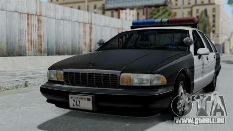 Chevrolet Caprice 1991 CRASH Division für GTA San Andreas
