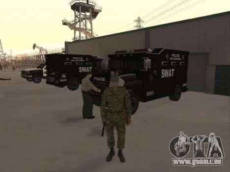 L'atmosphère de soldat pour GTA San Andreas deuxième écran