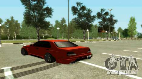 Nissan Cedric WideBody für GTA San Andreas zurück linke Ansicht