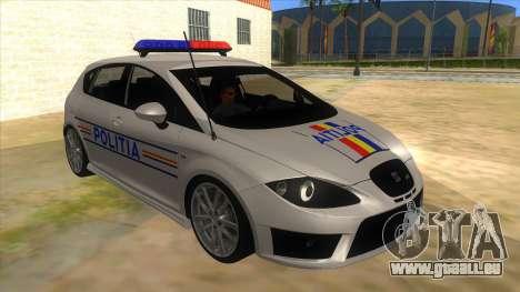 Seat Leon Cupra Romania Police für GTA San Andreas Rückansicht