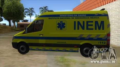 Mercedes-Benz Sprinter INEM Ambulance pour GTA San Andreas laissé vue