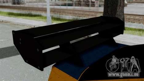 GTA 5 Karin Sultan RS Drift Big Spoiler für GTA San Andreas Rückansicht