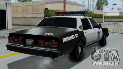Chevrolet Impala 1985 SFPD für GTA San Andreas linke Ansicht
