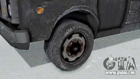 Le fourgon de la police de RE Outbreak pour GTA San Andreas sur la vue arrière gauche
