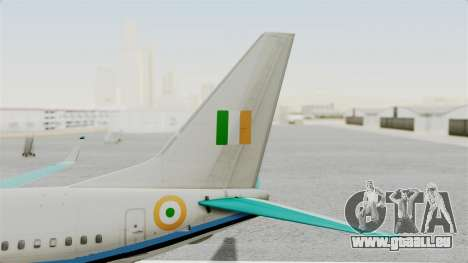 Boeing 737-800 Business Jet Indian Air Force für GTA San Andreas zurück linke Ansicht