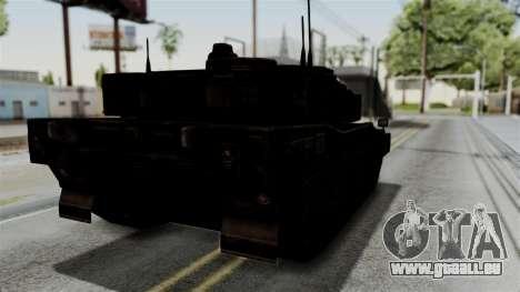 Point Blank Black Panther Rusty IVF für GTA San Andreas zurück linke Ansicht