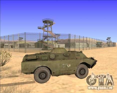 BRDM-2ЛД pour GTA San Andreas vue intérieure
