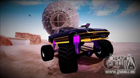GTA 5 Imponte Ruiner Monster Truck für GTA San Andreas Unteransicht