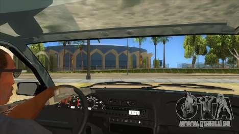 VAZ 2113 levier de vitesses pour GTA San Andreas vue intérieure