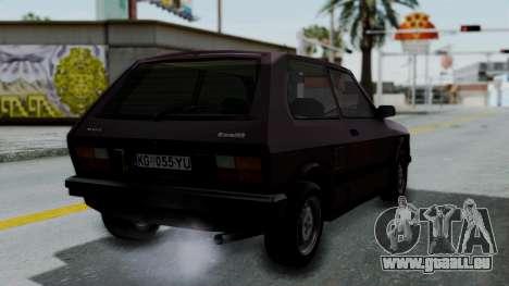 Yugo Koral 55 pour GTA San Andreas laissé vue