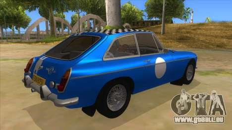 Richard Hammond MGB GT Top Gear pour GTA San Andreas vue de droite