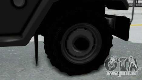 Jeep con Estacas Stylo Colombia pour GTA San Andreas sur la vue arrière gauche