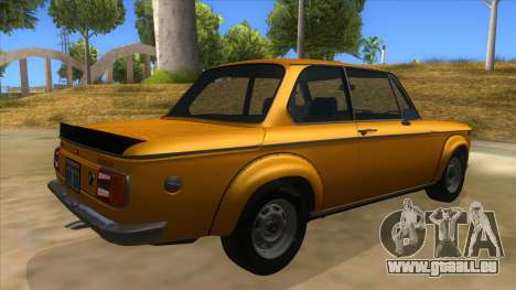 1974 BMW 2002 turbo v1.1 pour GTA San Andreas vue de droite