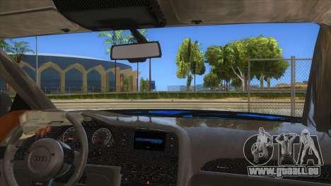Audi RS6 Blue Star Badgged pour GTA San Andreas vue intérieure