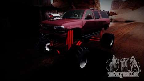 2003 Chevrolet Suburban Monster Truck für GTA San Andreas Unteransicht