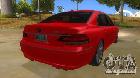 BMW 760 LI für GTA San Andreas rechten Ansicht