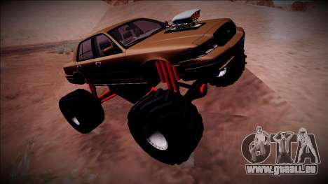 2003 Ford Crown Victoria Monster Truck pour GTA San Andreas vue intérieure