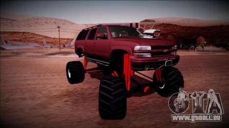 2003 Chevrolet Suburban Monster Truck für GTA San Andreas Innenansicht