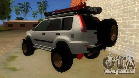 Nissan X-Trail 4x4 Dirty by Greedy pour GTA San Andreas sur la vue arrière gauche