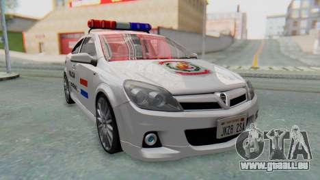 Opel-Vauxhall Astra Policia für GTA San Andreas zurück linke Ansicht