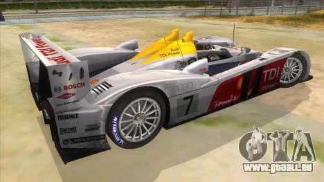 Audi R10 pour GTA San Andreas vue de droite