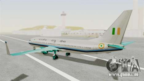 Boeing 737-800 Business Jet Indian Air Force für GTA San Andreas linke Ansicht