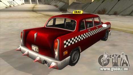 GTA3 Borgnine Cab pour GTA San Andreas sur la vue arrière gauche