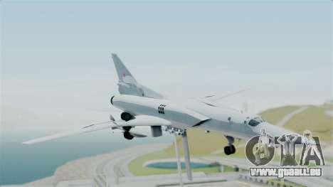 TU-22M3 pour GTA San Andreas sur la vue arrière gauche