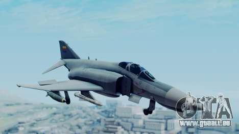 F-4E Phantom II Royal Noord-Hollandian Air Force pour GTA San Andreas sur la vue arrière gauche