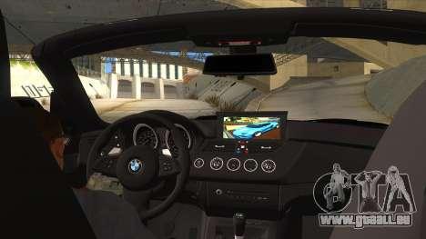 BMW Z4 Liberty Walk Performance für GTA San Andreas Innenansicht