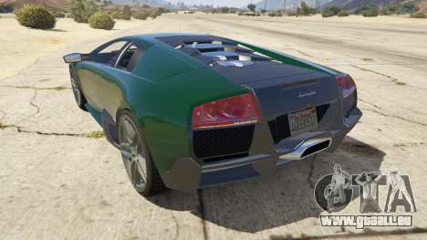 GTA 5 2010 Lamborghini Murcielago LP 670-4 SV hinten links Seitenansicht