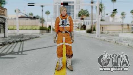 SWTFU - Luke Skywalker Pilot Outfit pour GTA San Andreas deuxième écran