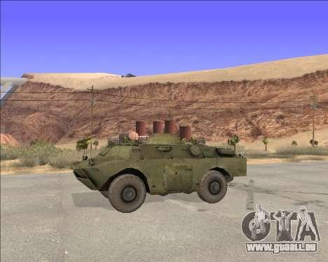 BRDM-2ЛД pour GTA San Andreas laissé vue