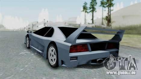 RC Turismo pour GTA San Andreas laissé vue