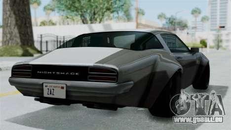GTA 5 Nightshade pour GTA San Andreas laissé vue