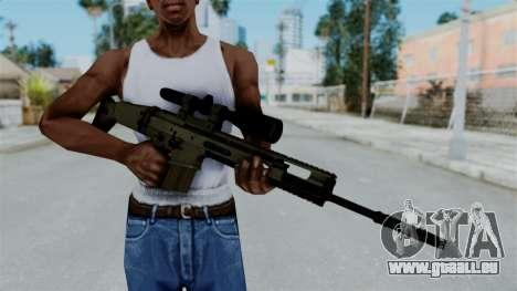 SCAR-20 v1 No Supressor pour GTA San Andreas troisième écran