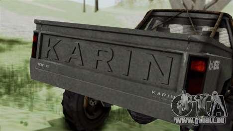 GTA 5 Karin Rebel 4x4 Worn IVF für GTA San Andreas Unteransicht