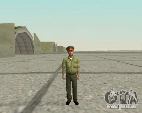 Officier des forces armées de la Fédération de r pour GTA San Andreas deuxième écran