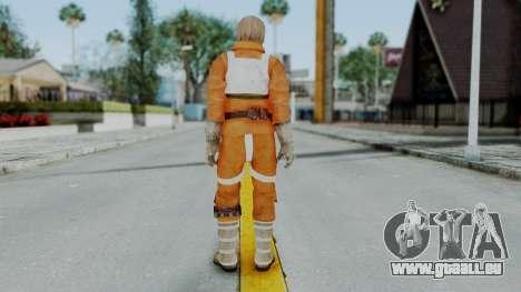 SWTFU - Luke Skywalker Pilot Outfit pour GTA San Andreas troisième écran