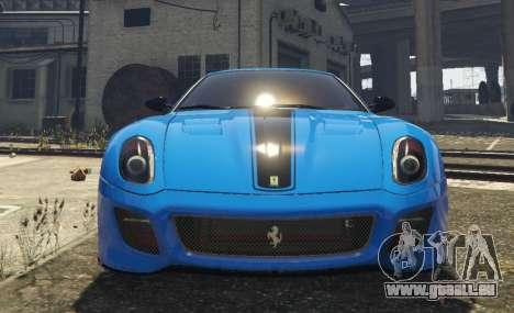 GTA 5 Ferrari 599 GTO[Replace] vue arrière